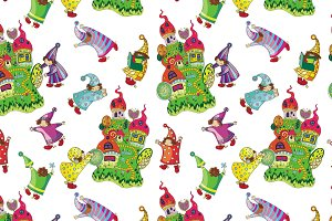 Cute pattern for children textile