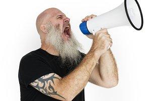 Bearded Caucasian Man (PNG)