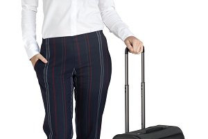 Businesswoman Traveling (PNG)