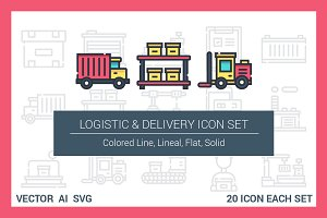 Logistic & Delivery Icon Set
