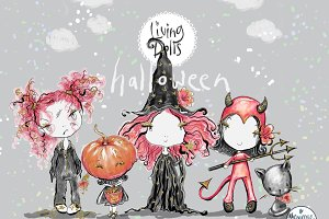 Halloween Girl Clipart