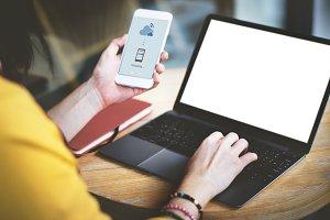 Uploading Internet Online (PNG)