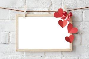 Board Heart Decoration Design (PNG)