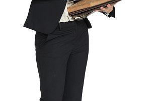 Caucasian Business Woman Busy (PNG)
