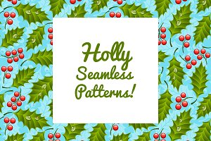 Seamless Patterns with Holly