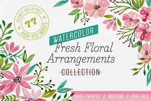 Fresh Floral Watercolor Arrangements
