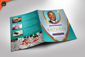 Royal Teal Pastor Birthday Program