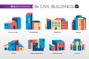 Civil Buildings - Vector World
