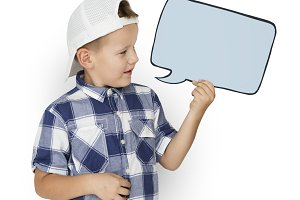 Kid is in a studio (PNG)