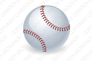 Shiny baseball ball illustration