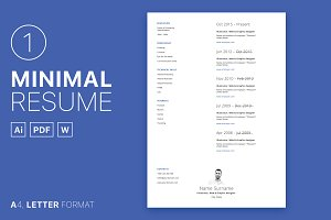 Minimal Resume 01