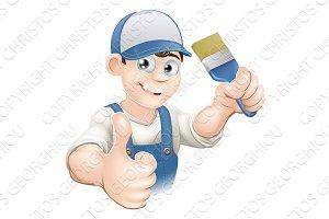 Cartoon painter decorator