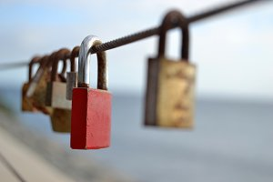 Padlock in the bridge