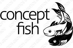 Fish Concept Icon Symbol