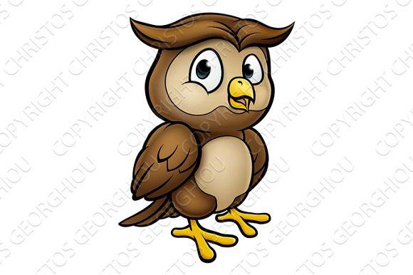 Cartoon owl character illustrations creative market cartoon owl character illustrations voltagebd Choice Image
