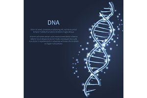 DNA Code Structure Icon Vector Illustration Vector