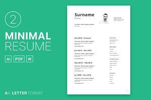 Minimal Resume 02
