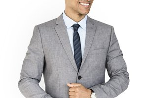 Business Man Cheerful Concept (PNG)