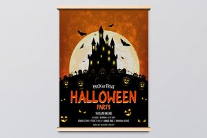 Set of Halloween posters