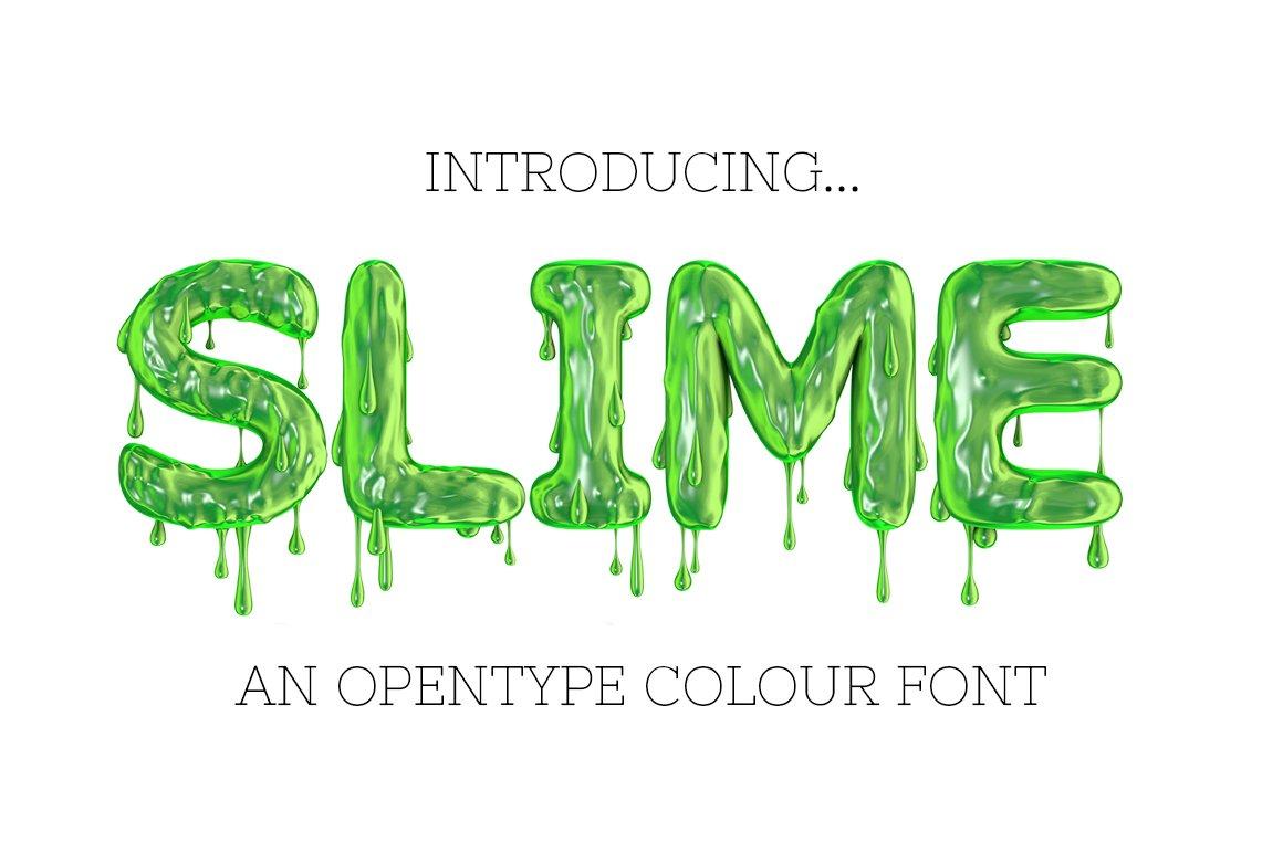 slime otf font pngs fonts creative market. Black Bedroom Furniture Sets. Home Design Ideas