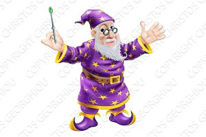 Wizard with Wand