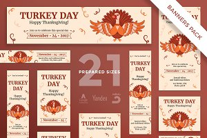 Banners Pack | Turkey Day