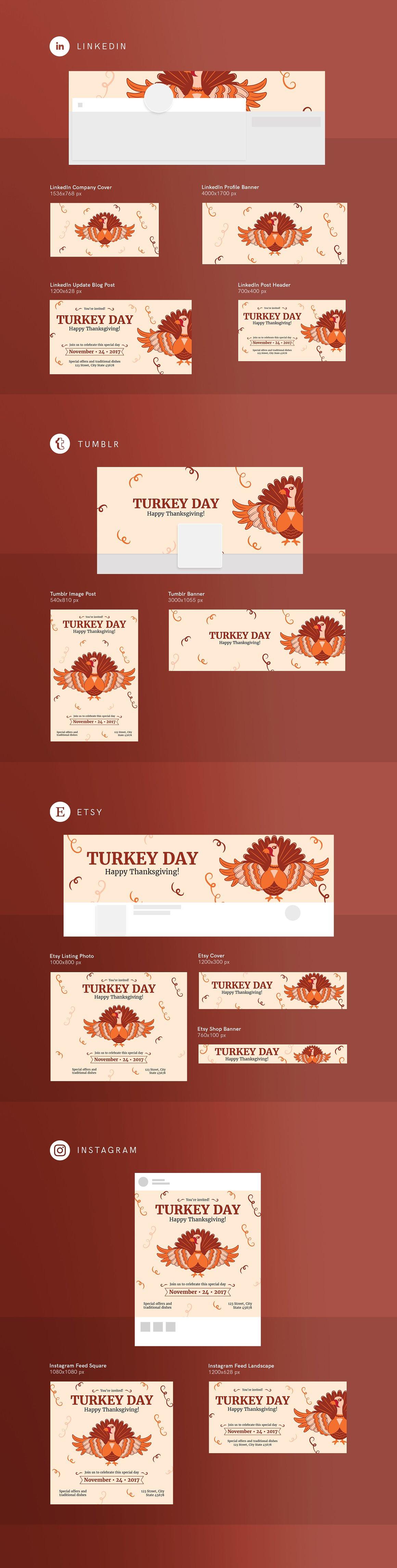 Social Media Pack | Turkey Day