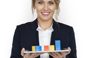Business Chart Smile Concept (PNG)