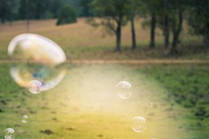 Bubbles in the air outside