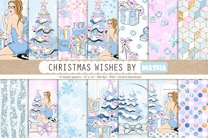 CHRISTMAS WISHES digital papers
