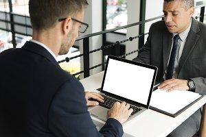 businessmen working together (PNG)