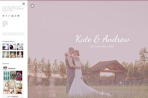 Wedding Tumblr Theme