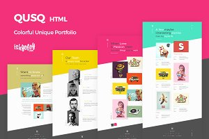 Qusq HTML - Colorful Portfolio