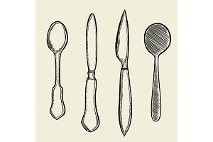 Vector illustration gravure
