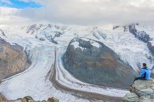 Gornergrat glacier view, Switzerland