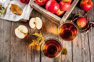 Fresh organic apple juice