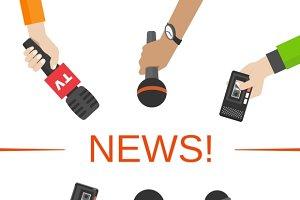 News & journalism concept