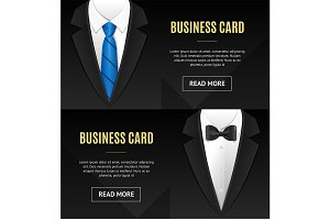 Business Card Bow Tie and Necktie