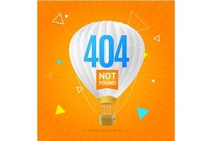 404 Not Found Concept. Vector