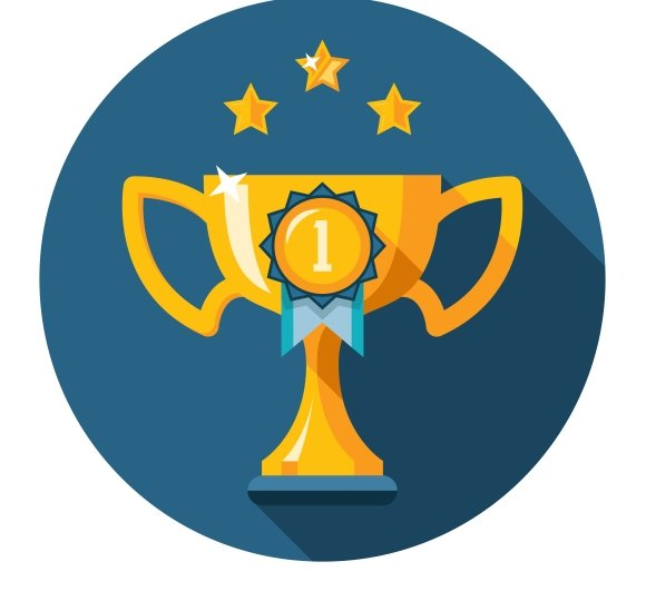 Gold winner trophy cup flat icon ~ Icons ~ Creative Market