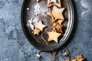 Christmas star shape sugar cookies