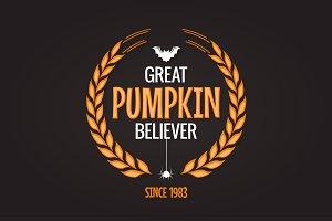 Halloween pumpkin believer logo