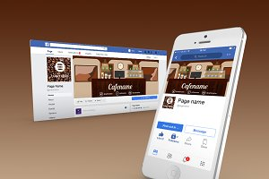 cafe facebook cover page template