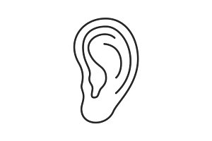 Ear linear icon