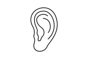 Ear linear icon