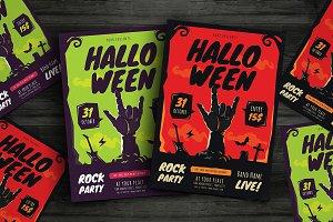 Halloween Rock Party Flyer