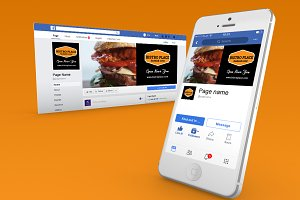 Bistro / Food Facebook Cover theme