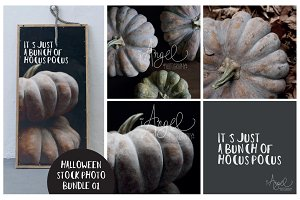 Stock photo bundle Boho Halloween 1