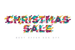 Christmas Year Sale typography design
