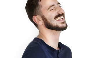Man Smiling Happiness Carefree (PNG)